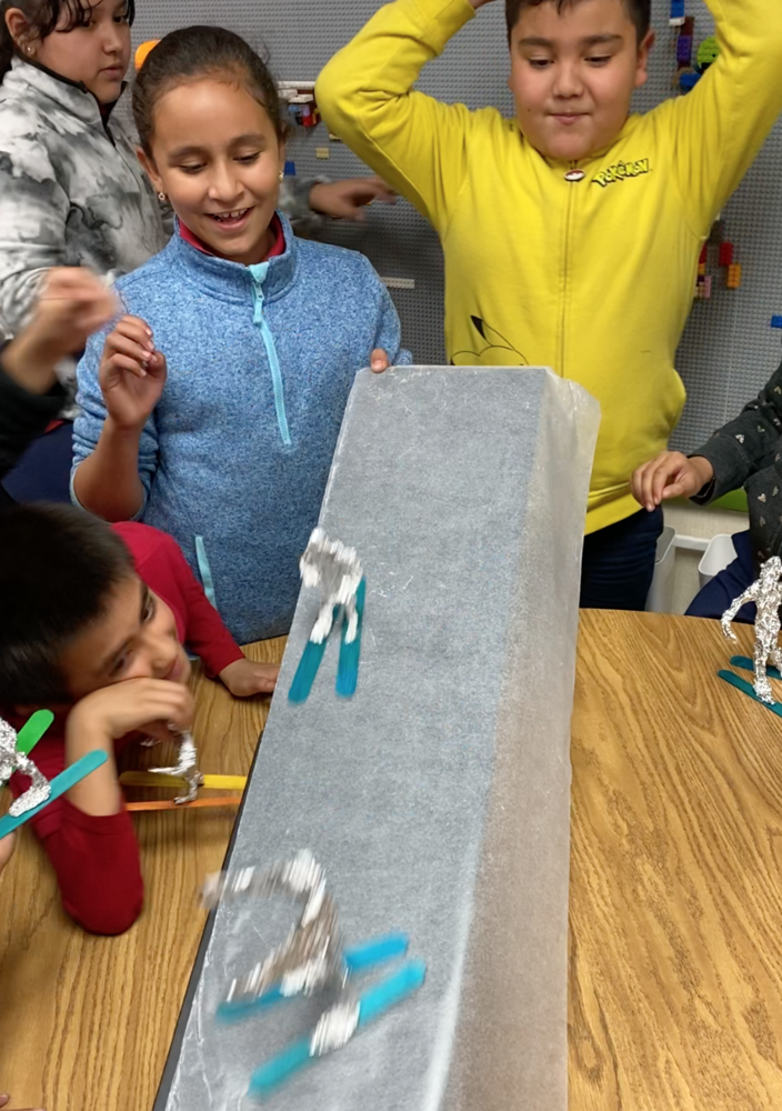 3rd Graders Work with Friction in S.T.E.A.M.