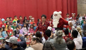 Santa Attends Mariposa Academy Christmas Program