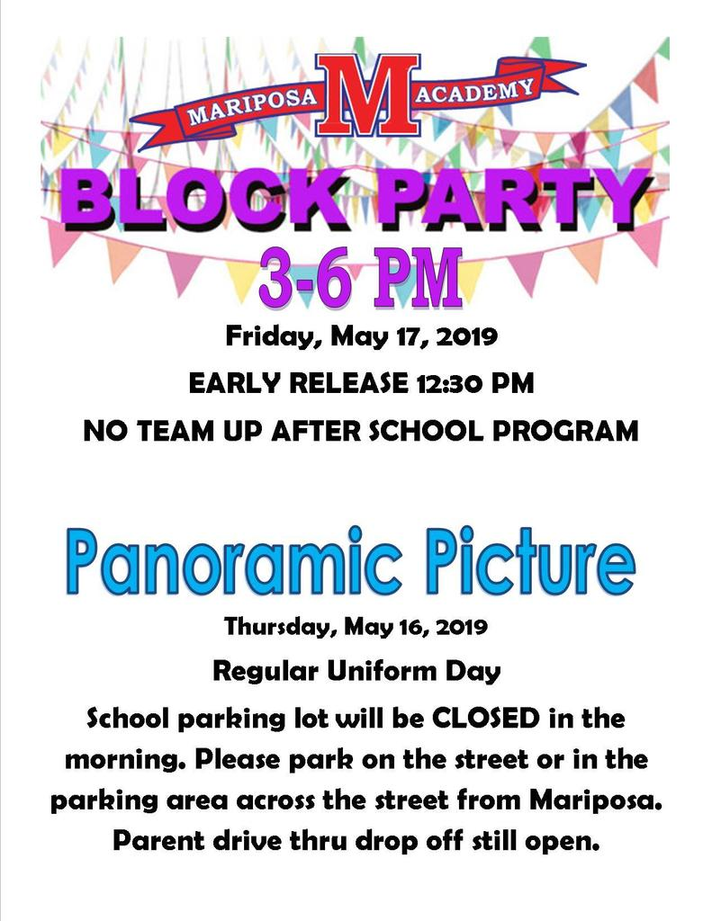 Block Party and Panoramic Picture